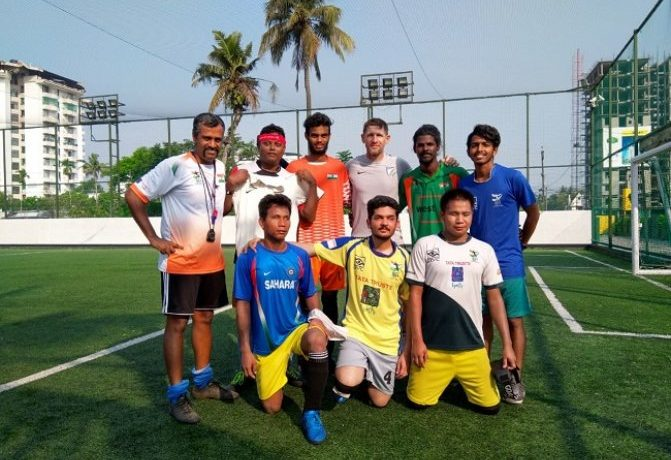 Indian blind footballers are set to receive donations from the Indian national team. (Photo courtesy: AIFF Media)