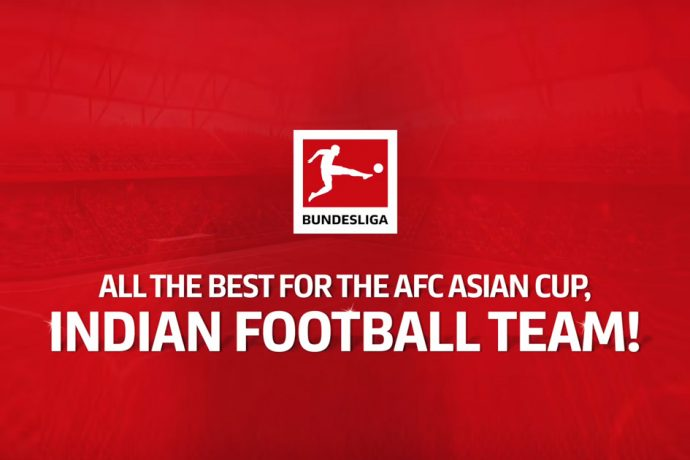"""All the best for the AFC Asian Cup, Indian football team!"" (Image courtesy: Screenshot - Bundesliga Video)"