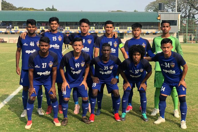 The Chennaiyin FC B Team ahead of their Hero 2nd Division League match. (Photo courtesy: Chennaiyin FC)