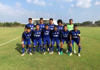 The Chennaiyin FC B team before their 2nd Division League match. (Photo courtesy: Chennaiyin FC)