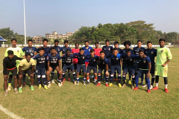 The Chennaiyin FC B squad for the 2nd Division League 2018/19. (Photo courtesy: Chennaiyin FC)
