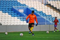 Indian national team goalkeeper Gurpreet Singh Sandhu during a training session. (Photo courtesy: AIFF Media)
