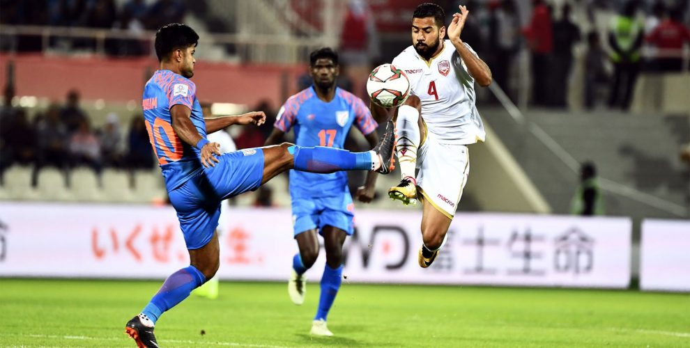AFC Asian Cup UAE 2019 Group A match action between the India and Bahrain. (Photo courtesy: The Asian Football Confederation)