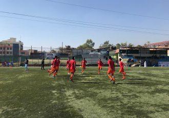 The India U-16 national team during a training session. (Photo courtesy: AIFF Media)