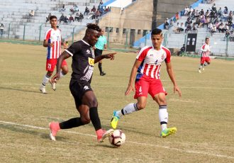 Hero 2nd Division League match action between Mohammedan Sporting Club and ATK Reserves. (Photo courtesy: Mohammedan Sporting Club)