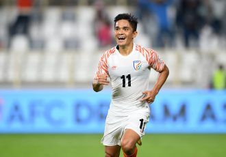 Indian football icon and Indian national team star striker Sunill Chhetri at the AFC Asian Cup UAE 2019. (Photo courtesy: The Asian Football Confederation)