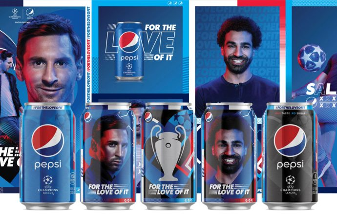 Pepsi premieres its 2019 global football campaign under the brand's new international platform and tagline, PEPSI, FOR THE LOVE OF IT which features Lionel Messi and Mohamed Salah. (Photo courtesy: PepsiCo)