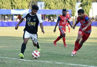 Steel Express Cup match action between Mohammedan Sporting Club and Jamshedpur FC Reserves. (Photo courtesy: Mohammedan Sporting Club)