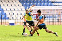 Bengaluru FC training session ahead of the Indian Super League clash. (Photo courtesy: Bengaluru FC)