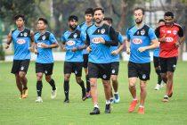 Bengaluru FC's training session at the Tata Football Academy Training Ground in Jamshedpur. (Photo courtesy: Bengaluru FC)