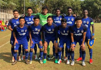 The Chennaiyin FC U-18 team ahead of their Hero Elite League match. (Photo courtesy: Chennaiyin FC)