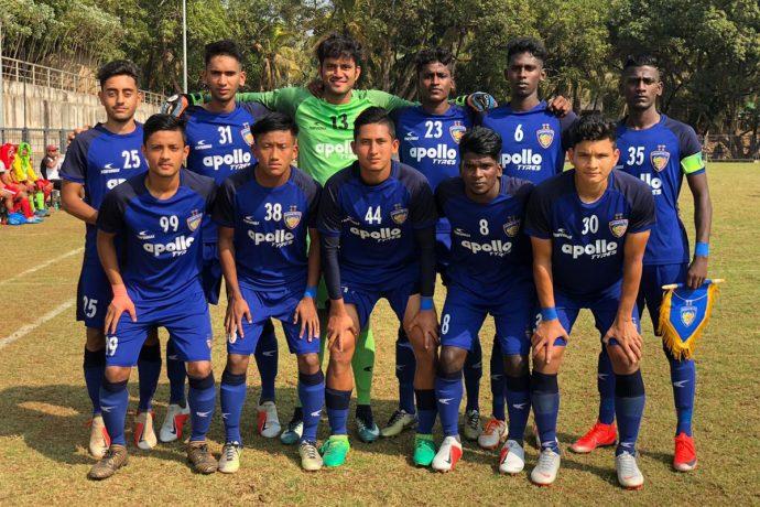 The Chennaiyin FC U-18 team ahead of their Hero Elite League match. (Photo courtesy: Chennaiyin FC)
