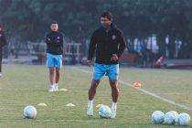Derrick Pereira during a training session at FC Goa. (Photo courtesy: AIFF Media)