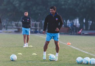 Derrick Pereira during a training session at FC Goa. (Photo courtesy: AIFF Media)