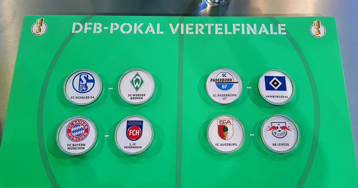 DFB-Pokal quarterfinal draw conducted at Deutsches ...