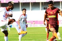 Hero I-League match action between Gokulam Kerala FC and Aizawl FC. (Photo courtesy: AIFF Media)
