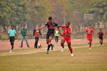 Hero I-League match action bewteen Minerva Punjab FC and Aizawl FC. (Photo courtesy: AIFF Media)