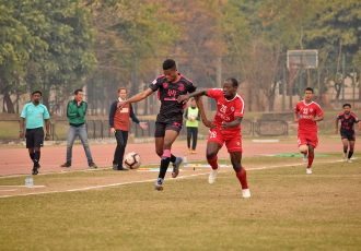 Hero I-League match action bewteen Minerva Punjab FC and Aizawl FC. (Photo courtesy: AIFF Media)
