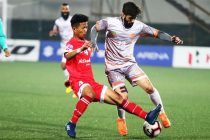 Hero I-League match action between Shillong Lajong FC and Chennai City FC. (Photo courtesy: AIFF Media)