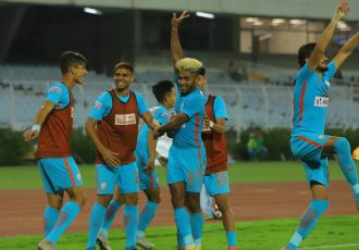 Indian Arrows players celebrating their win in the Hero I-League. (Photo courtesy: AIFF Media)