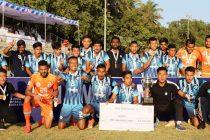 The victorious Minerva Punjab FC U-18 team celebrate their maidan Hero Elite League title. (Photo courtesy: AIFF Media)