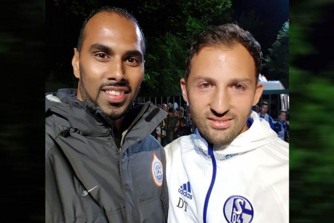Chris Punnakkattu Daniel and Domenico Tedesco. (© CPD Football)