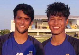 Chennaiyin FC B goalscorers Krishna Pandit and Bawlte Rohmingthanga. (Photo courtesy: Chennaiyin FC)