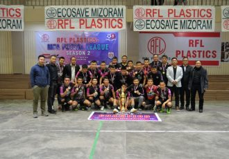 Chanmari Zothan Futsal are the champions of Mizoram FA Futsal League. (Photo courtesy: Mizoram Football Association)