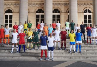 28 of the world's top footballers joined Nike in Paris to unveil 14 National Team Collections: Wang Shuang and Wu Haiyan (China); Sophie Schmidt and Janine Beckie (Canada); Alex Morgan and Megan Rapinoe (USA); Thembi Kgatlana and Janine van Wyk (South Africa); Sam Kerr and Ellie Carpenter (Australia); María José Rojas and Helen Galaz (Chile); Marie-Antoinette Katoto and Grace Geyoro (France); Lieke Martens and Danielle van de Donk (The Netherlands); Selgi Jang and Cho So-hyun (South Korea); Steph Houghton and Toni Duggan (England); Asisat Oshoala and Rasheedat Ajibade (Nigeria); Adriana Silva and Andressa Alves (Brasil); Annalie Longo and Hannah Wilkinson (New Zealand); and Caroline Graham Hansen and Frida Maanum (Norway). (Photo courtesy: Nike)