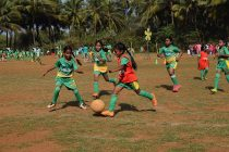 The Grassroots Football Festival for children during the 6th Salgaocar FC Community Outreach Program. (Photo courtesy: Salgaocar FC)