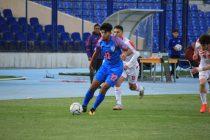 India U-23 player Abdul Sahal in action against Tajikistan in the AFC U-23 Championship qualifiers. (Photo courtesy: AIFF Media)