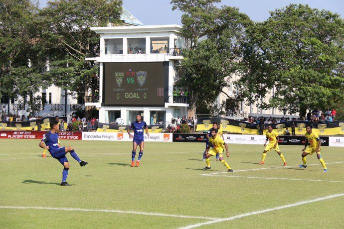 AFC Cup match action between Colombo FC and Chennaiyin FC. (Photo courtesy: Chennaiyin FC)