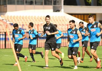 Bengaluru FC's training session ahead of their Indian Super League final against FC Goa. (Photo courtesy: Bengaluru FC)