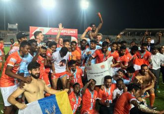 Hero I-League 2018/19 champions Chennai City FC. (Photo courtesy: AIFF Media)