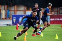Chennaiyin FC's Isaac Vanmalsawma during a training session. (Photo courtesy: Chennaiyin FC)