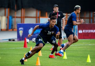 Chennaiyin FC's Isaac Vanmalsawma during a training session. (Photo courtesy: Chennaiyin FC)