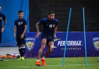 Chennaiyin FC's Raphael Augusto during a training session. (Photo courtesy: Chennaiyin FC)