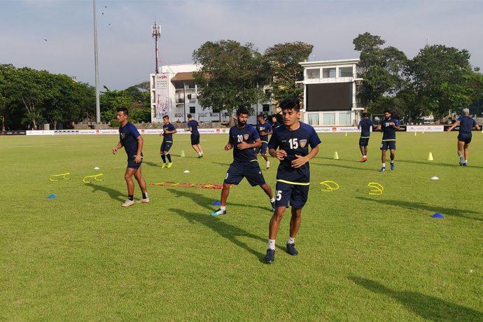 Chennaiyin FC training session. (Photo courtesy: Chennaiyin FC)