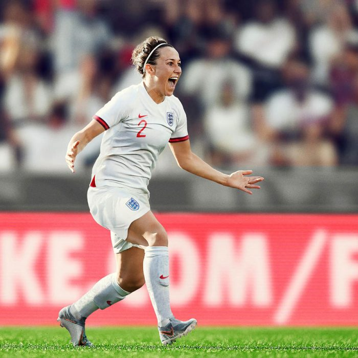 Lucy Bronze in England's new home kit. (Photo courtesy: Nike)