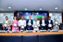 Siddhartha Upadhyay (General Secretary, STAIRS), Sara Pilot (Chairperson, Women's Football Committee, AIFF), Rohit Bhardwaj (Director - Sports, Department of Sports, Ministry of Youth Affairs & Sports, Government of India), Robert Klein (CEO, Bundesliga International), Subrata Dutta (Senior Vice President, AIFF), Chanakya Chaudhary (VP Corporate Service, TATA Steel) at the FICCI Goal 2019 in New Delhi. (Photo courtesy: FICCI)