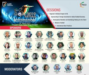 Speakers for FICCI GOAL 2019 – India Football conference. (Image courtesy: FICCI)