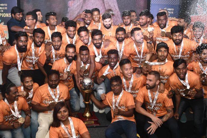 Hero I-League 2018/19 champions Chennai City FC. (Photo courtesy: AIFF Media)