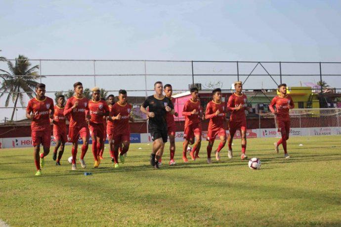 The India U-23 national team during a training session. (Photo courtesy: AIFF Media)