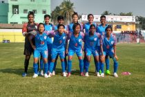 The Indian Women's national team at the SAFF Women's Championship 2019. (Photo courtesy: AIFF Media)