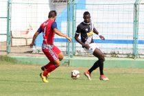 Mohammedan Sporting Club striker Desmos Arthur Kouassi in action against Jamshedpur FC Reserves. (Photo courtesy: Mohammedan Sporting Club)