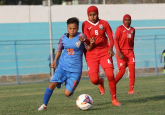 SAFF Women's Championship match action between India and Maldives. (Photo courtesy: AIFF Media)