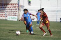 SAFF Women's Championship 2019 match action between India and Sri Lanka. (Photo courtesy: AIFF Media)