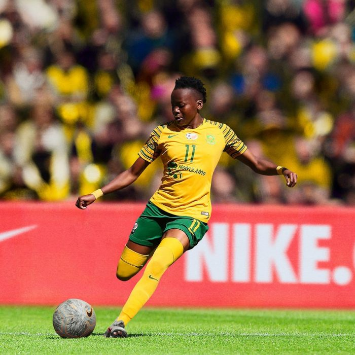 Thembi Kgatlana in South Africa's new home kit. (Photo courtesy: Nike)