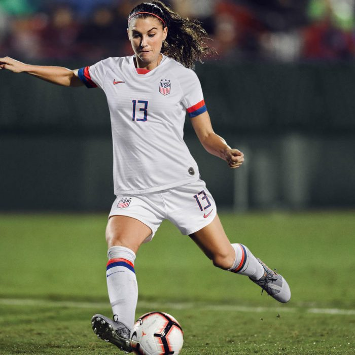 Alex Morgan in the United States' new home kit. (Photo courtesy: Nike)