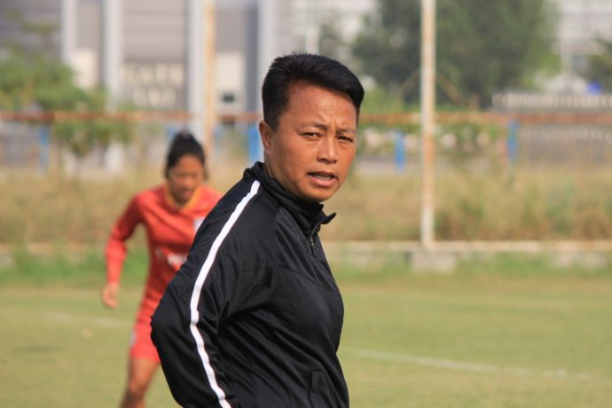 Indian Women's national team assistant coach Chaoba Devi Langam. (Photo courtesy: AIFF Media)